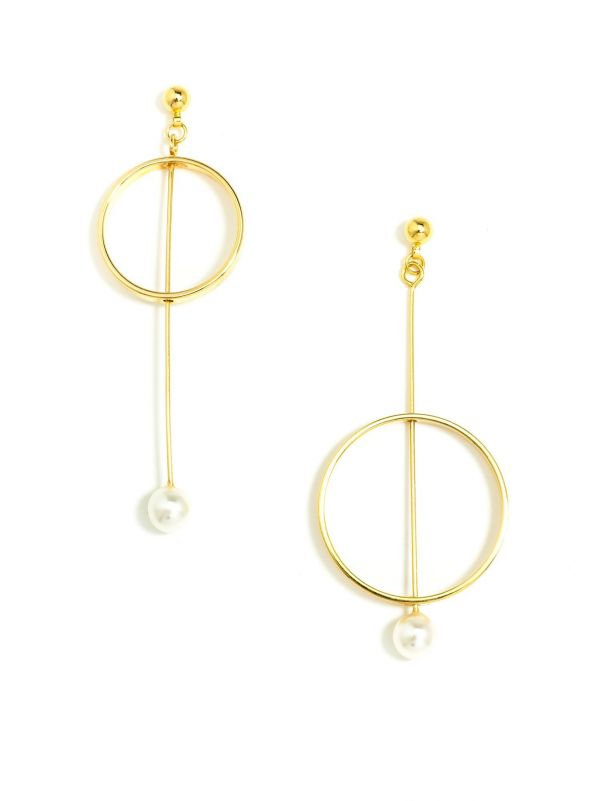 Pearl Diver Earrings - Gold