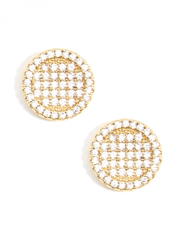 Circle Crystal Stud Earring