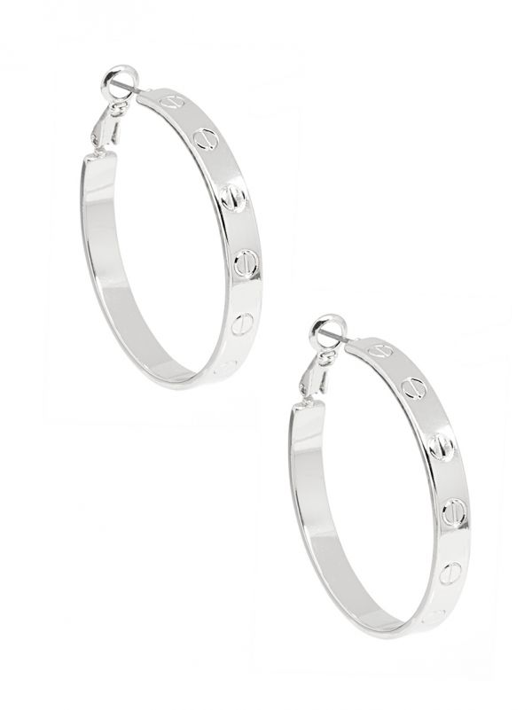 Small Bolted Hoop Earring ZZZE2419