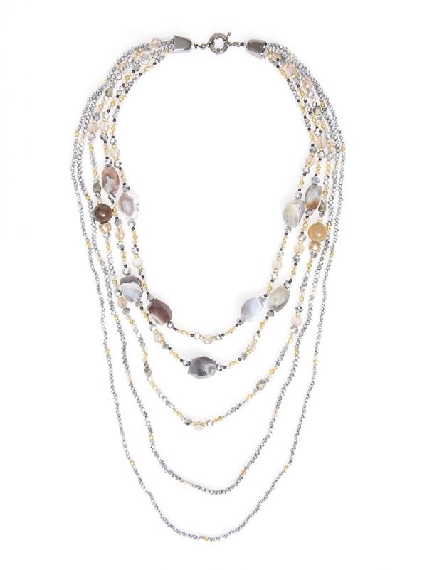 Calypso's Glamour Necklace  - color is Silver   ZENZII Wholesale
