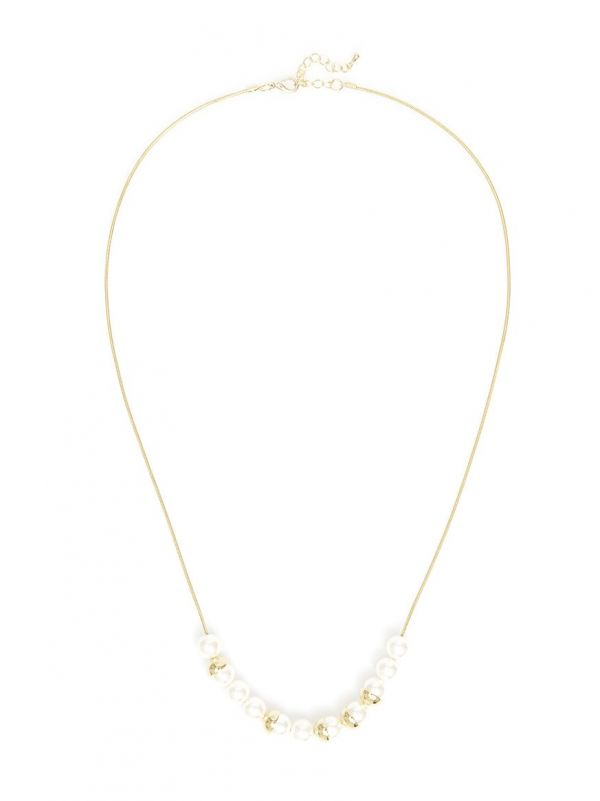 Pearls and Platters Necklace  - color is Gold/Pearl | ZENZII Wholesale