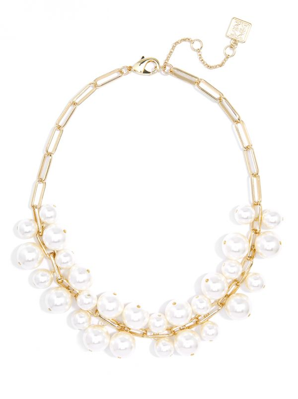 Pearl and Chain Collar Necklace