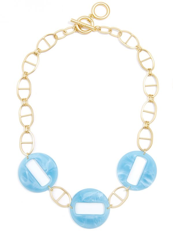 Mariner Chain Collar Necklace with Resin Links