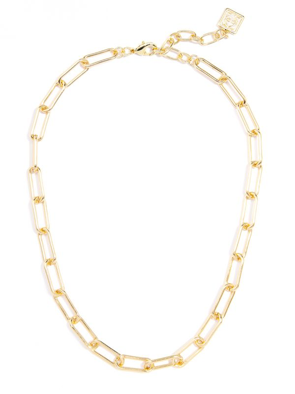Classic Links Collar Necklace - GLD