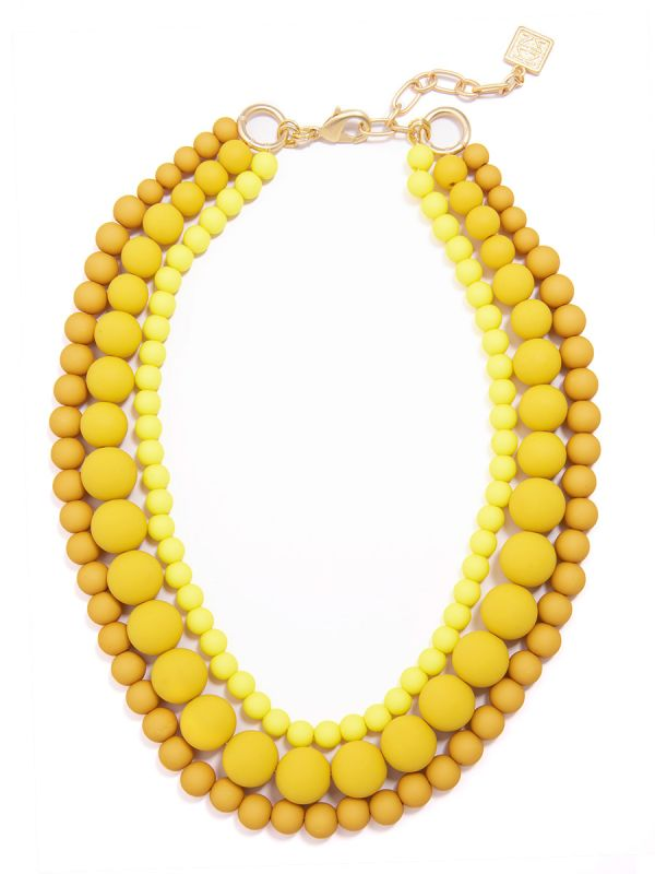 Ombre Beaded Collar Necklace
