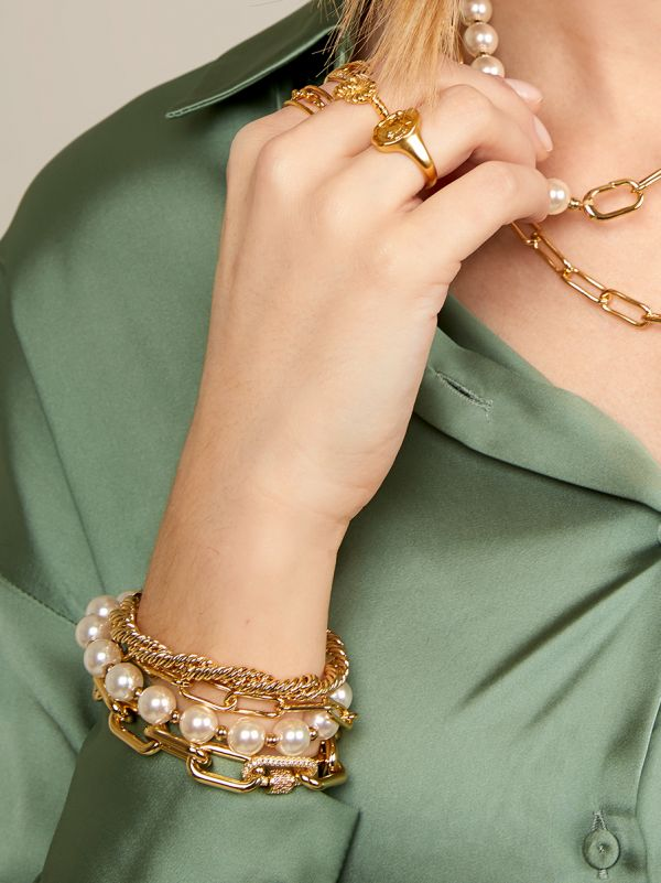 Pearl and Link Bracelet WWB1452