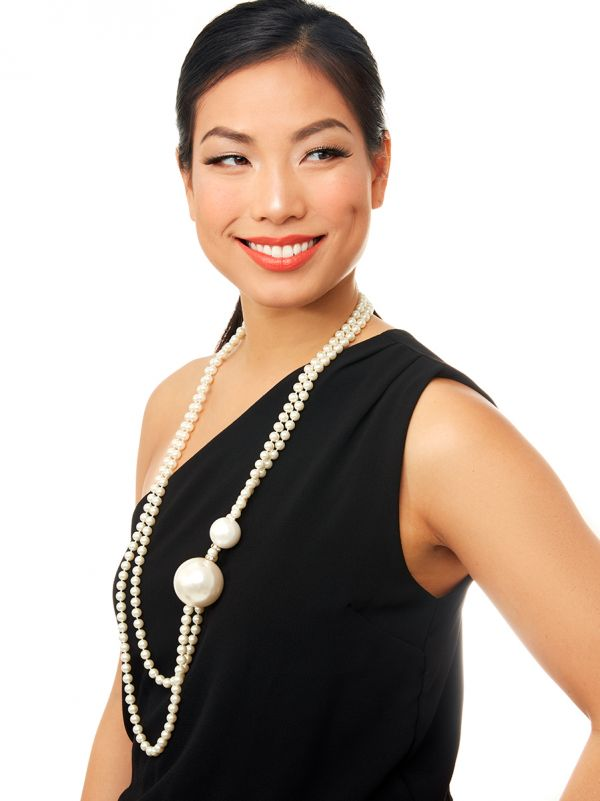 Give These Pearls a Whirl Long Layered Necklace