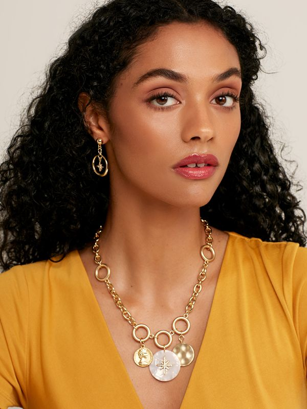 Solstice Charms Chain Collar Necklace