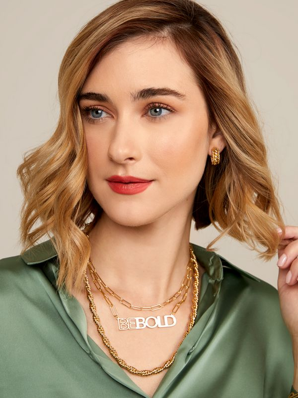Be Bold Gold Link Necklace RRN2630