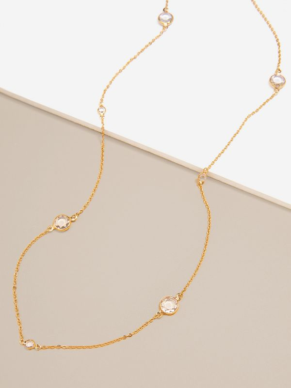 Crystal Drops Long Necklace N1993