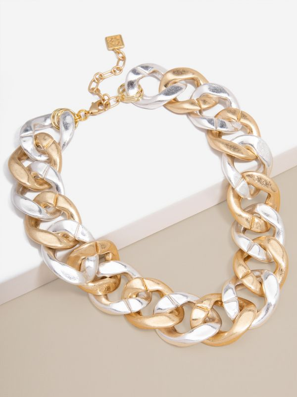 Matte Curb Chain Collar Necklace
