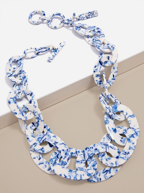 Porcelain Pattern Links Collar Necklace