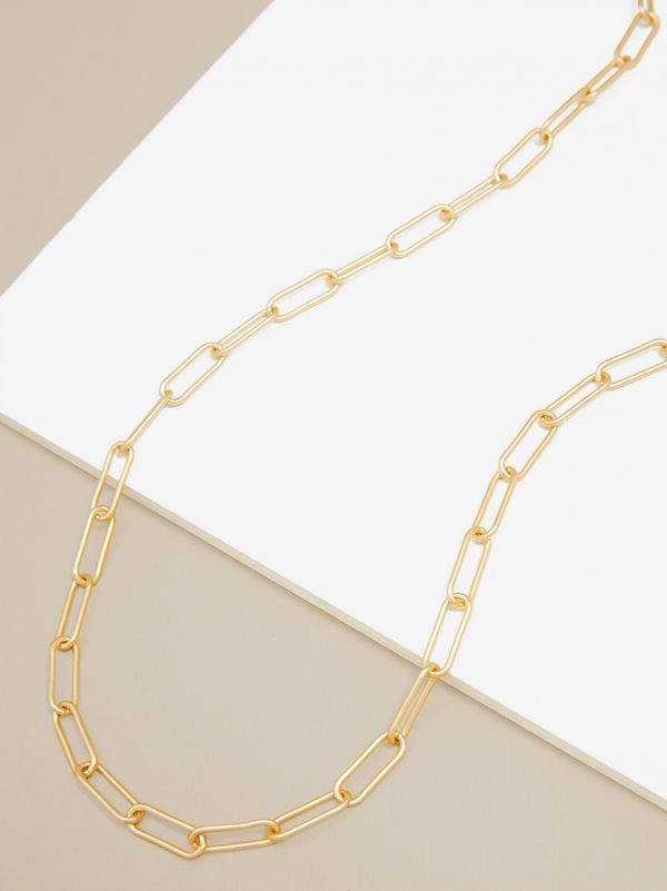 Classic Paperclip Link Necklace XN2625