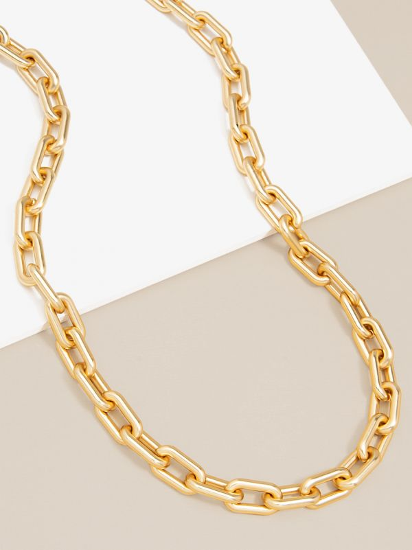 18K Gold Link Necklace YYN2627