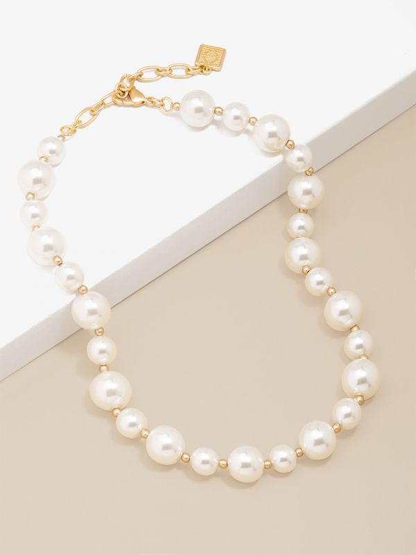 Mixed Pearl Collar Necklace N2662