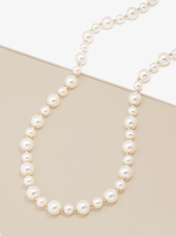 Mixed Pearl Long Necklace N2663
