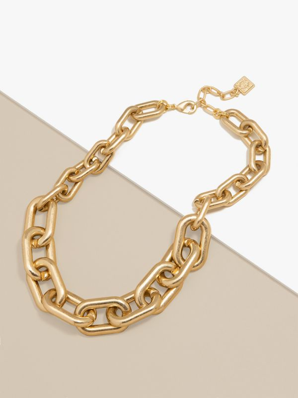 Chunky Cable Link Collar Necklace N2678