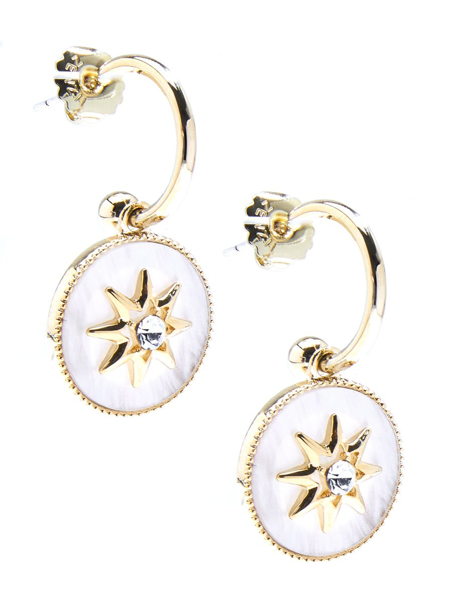 Celestial Star And Crystal Drop Earring