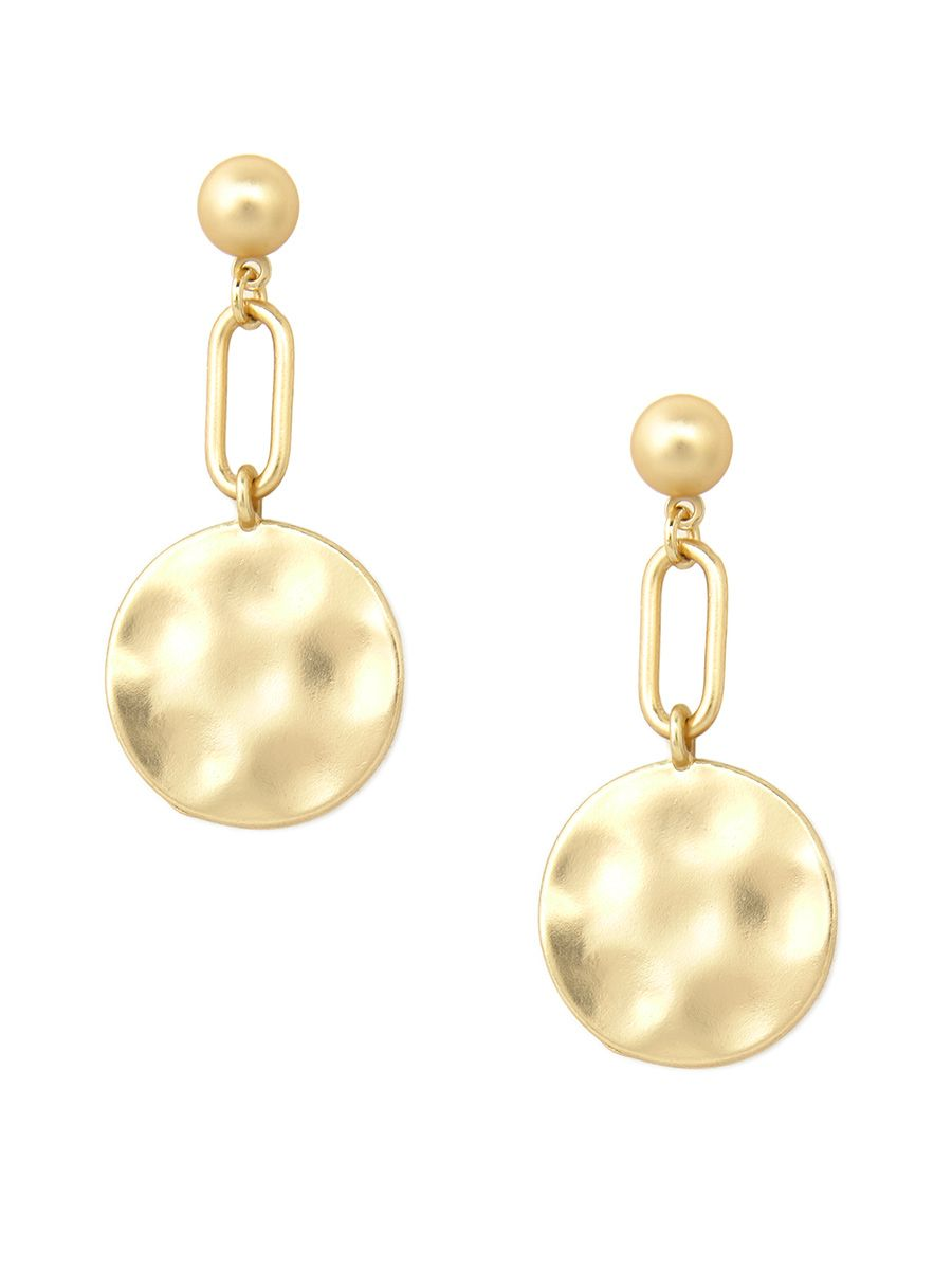 Link And Medallion Drop Earring
