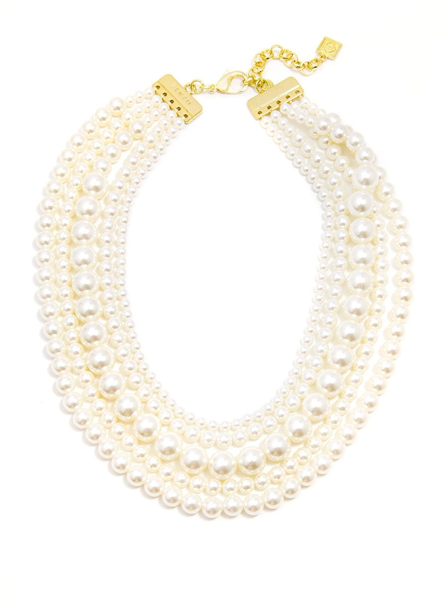 5 Strand Beaded Necklace