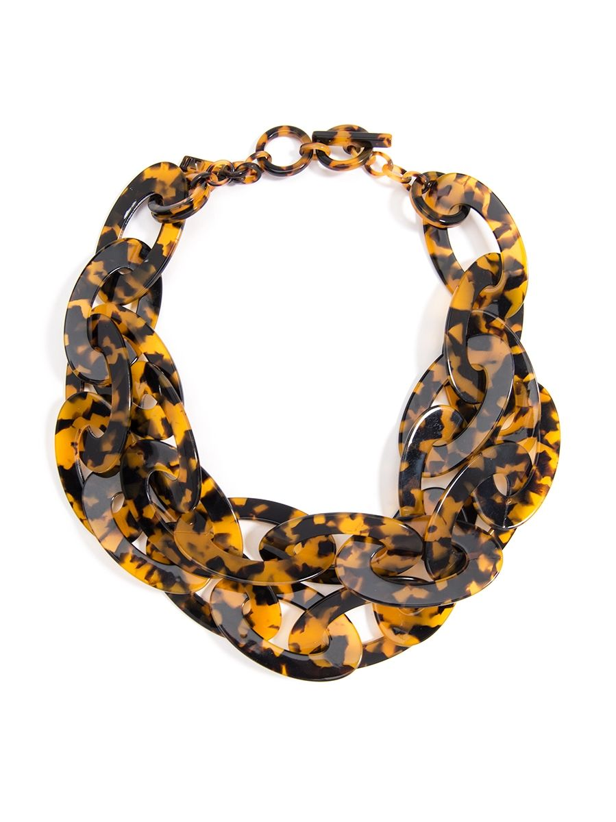 Tortoise Linked Collar Necklace