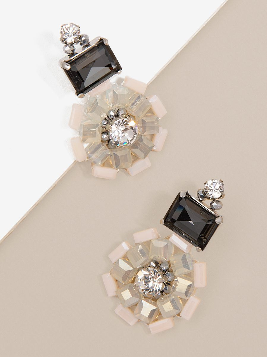 Flare And Square Earring