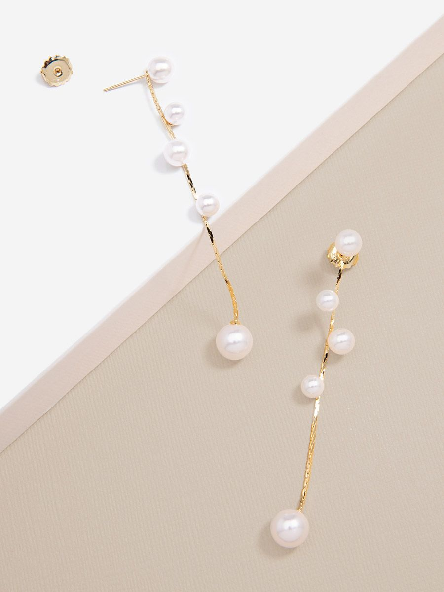 Strand Of Pearls Drop Earring
