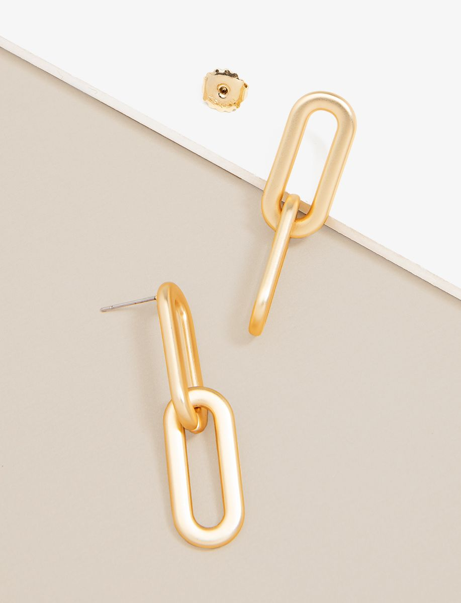 Cable Link Drop Earrings