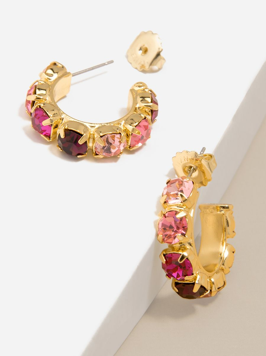 Chunky Colorful Crystal Hoops