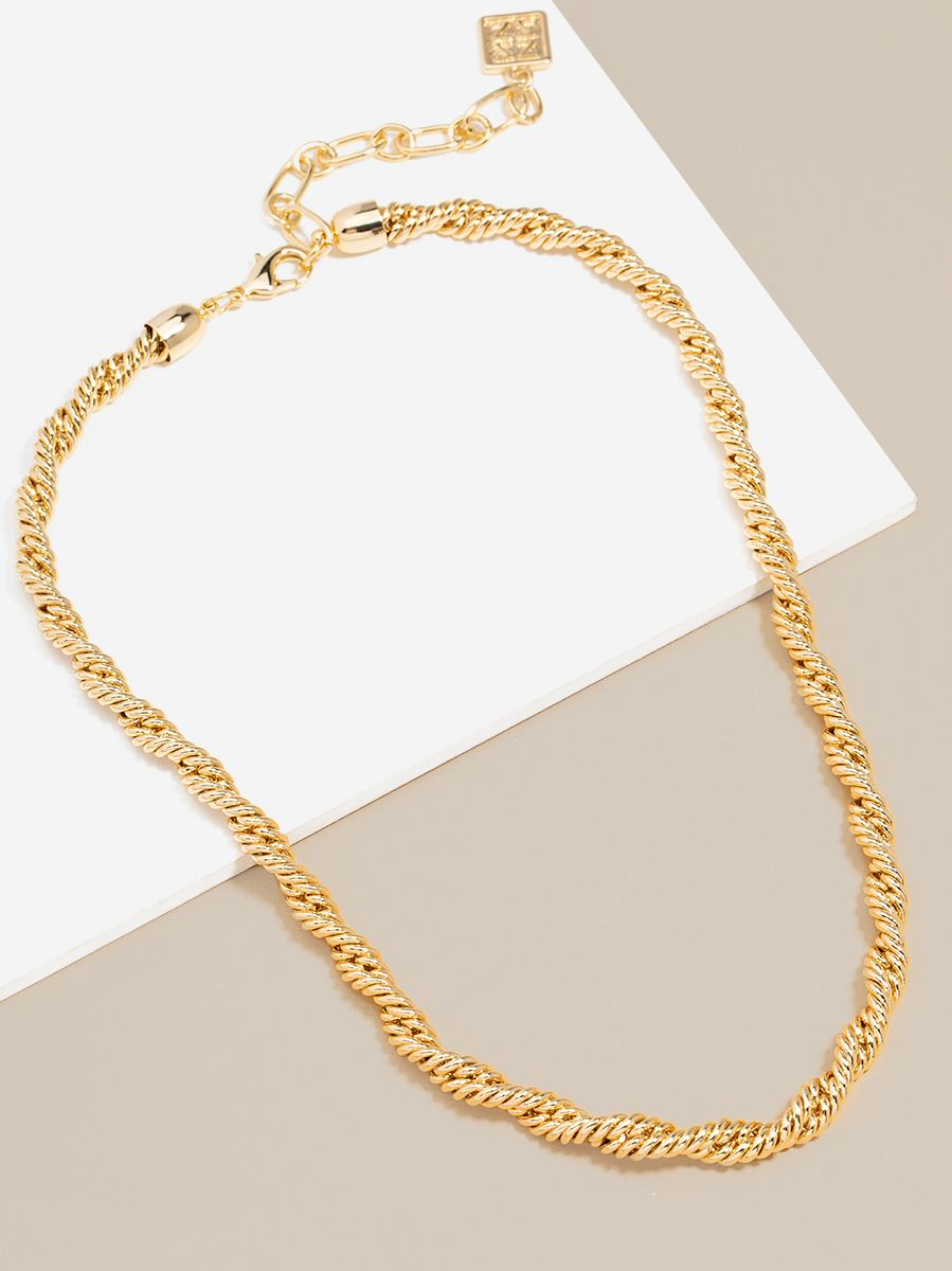 Braided Twisting Links Collar Necklace