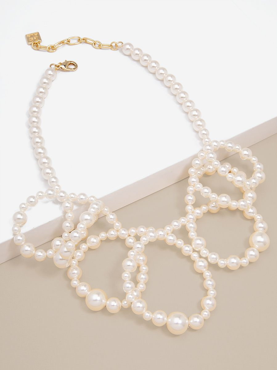 Pearl Loops Collar Necklace Jewelry