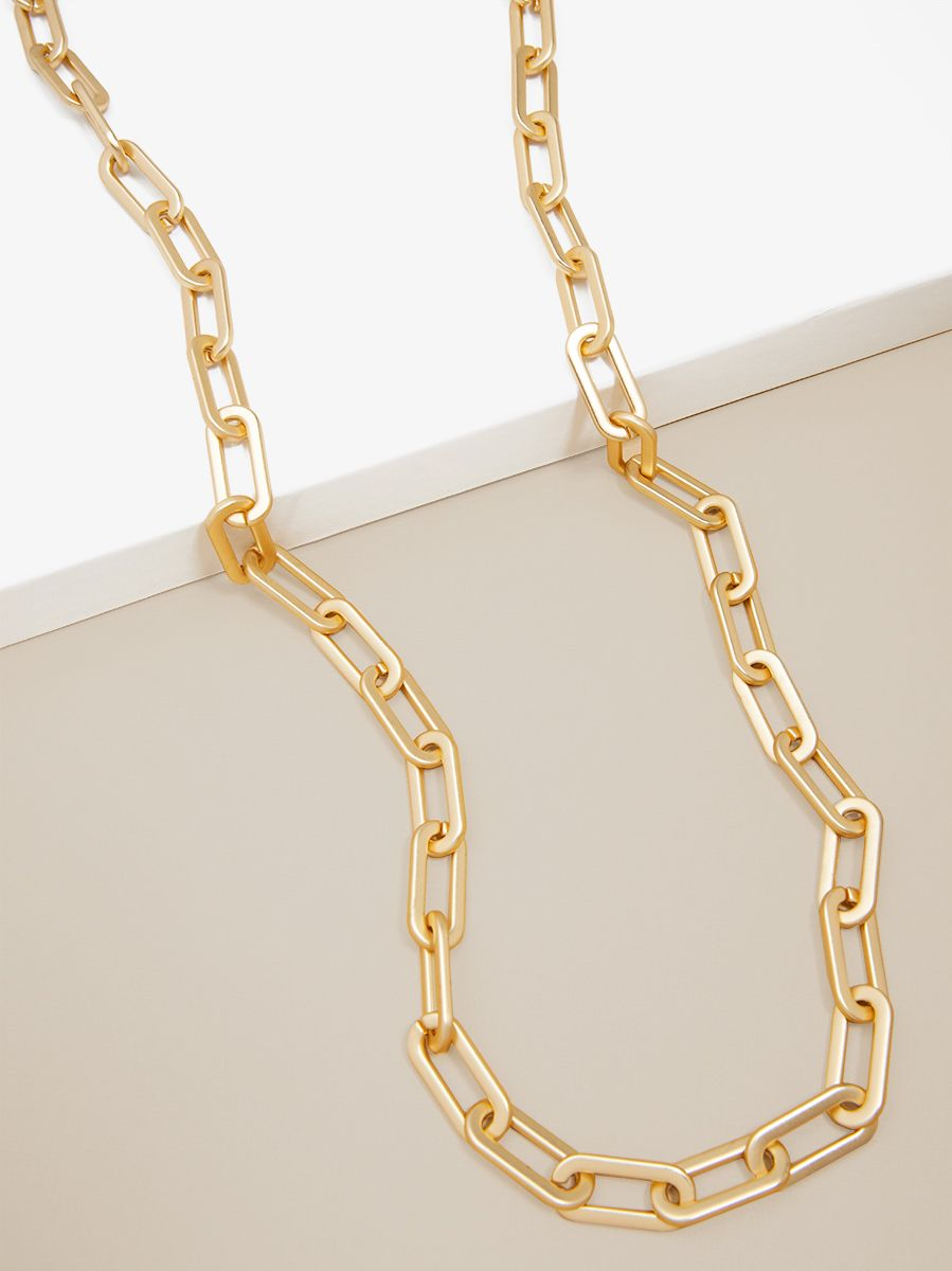 Cable Link Long Necklace