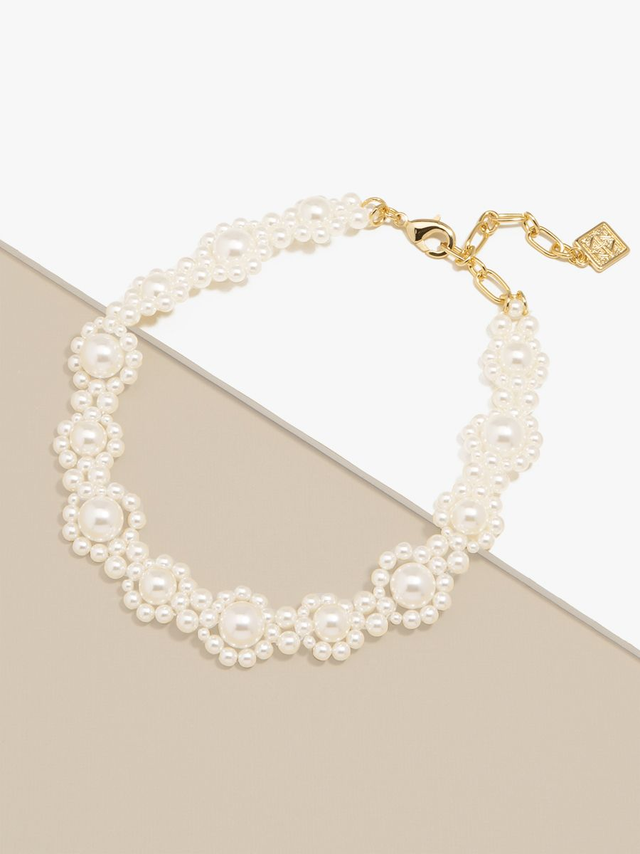 Pearl Cluster Collar Necklace