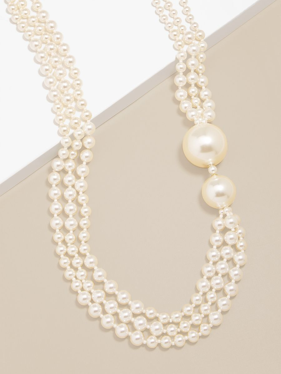Long Necklace With Oversized Pearls