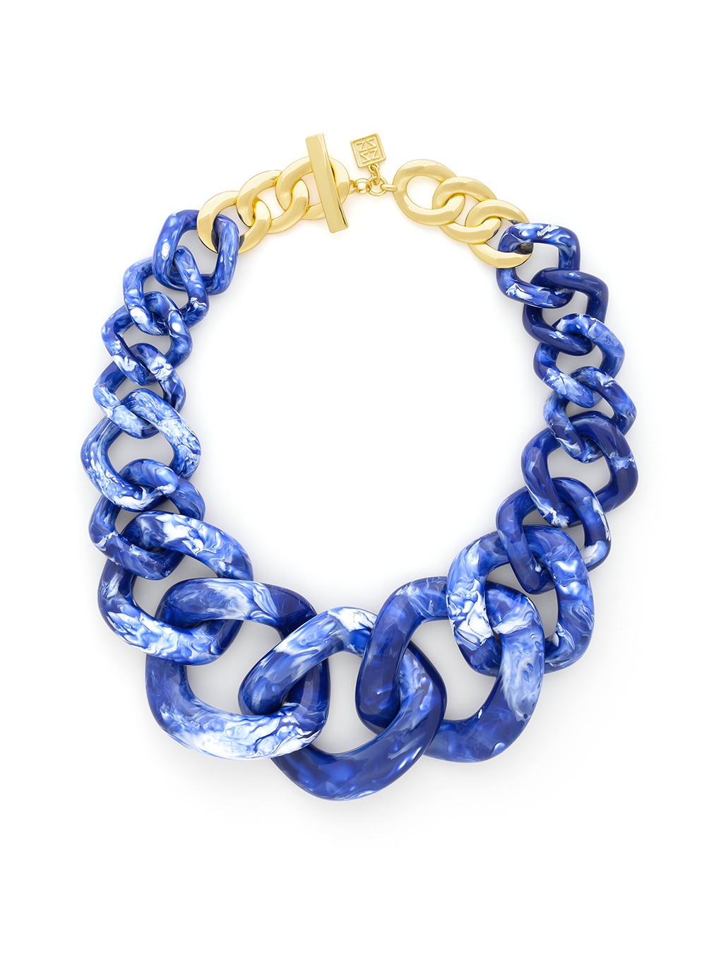 Resin Curb Chain Collar Necklace