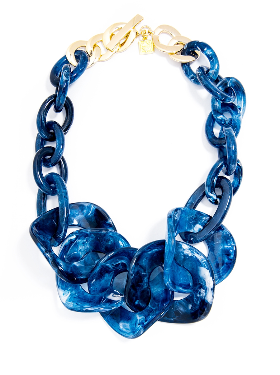 Semi-Translucent Marbled Necklace