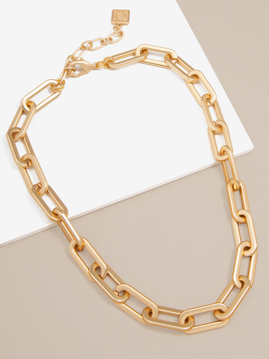 Oblong Links Collar Necklace
