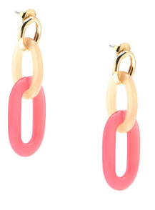Marbled Links Drop Earring