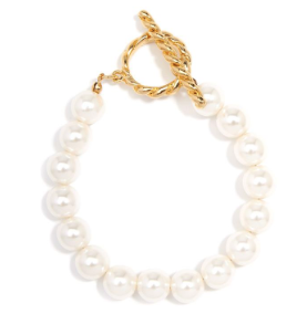 Beaded Pearl And Toggle Bracelet Jewelry
