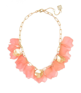Sheer Layered Petals Gold Collar Necklace Jewelry
