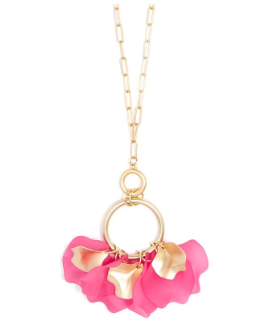 Sheer Petals Gold Pendant Necklace Jewelry